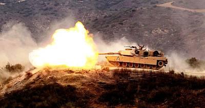 M1 Abrams Tank Us Marine Corps Camp Pendleton Art Print
