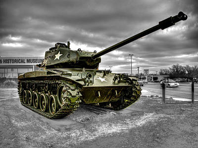 Tank Photograph - M41 Walker Bulldog  V1 by John Straton