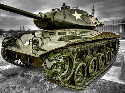 Tank Photograph - M41 Walker Bulldog  V4 by John Straton