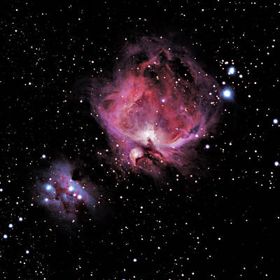 Photograph - M42 The Great Nebula Of Orion by Alan Vance Ley