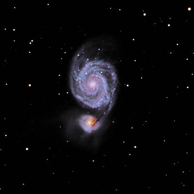 Photograph - M51--the Whirlpool Galaxy by Alan Vance Ley