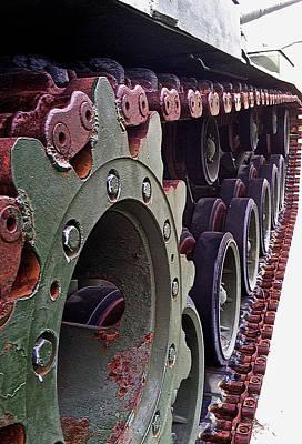 M60 Tank Photograph - M60 Patton Tank Tread by Bill Owen