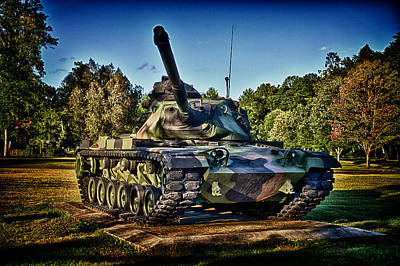 M60 Tank Photograph - M60a3 Mbt by D L McDowell-Hiss