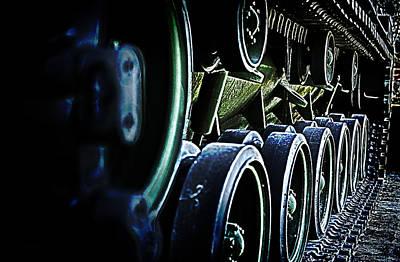 M60 Tank Photograph - M60a3 Tank Tread by D L McDowell-Hiss