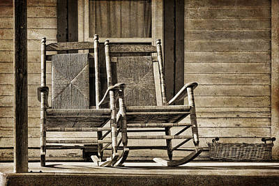 Sepia Vintage Farmhouse Photograph - Ma And Pa by Nikolyn McDonald