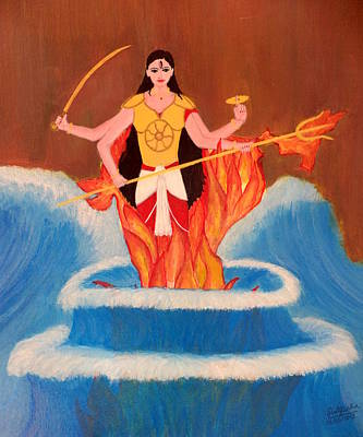 Painting - Ma Bharati by Pratyasha Nithin