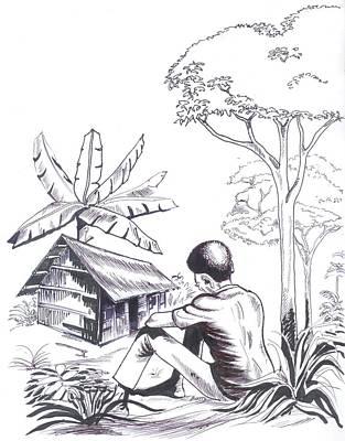 Painting - Ma Cambouse by Emmanuel Baliyanga