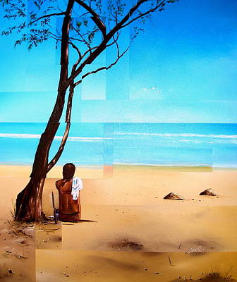 Painting - Ma Plage Privee by Laurend Doumba