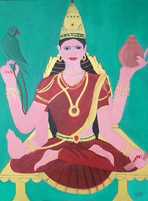 Painting - Ma Sharada by Pratyasha Nithin
