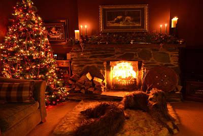 Ma Wee Room At Christmas Art Print by Joak Kerr