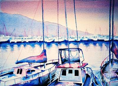 Painting - Maalaea Harbor by Frances Ku