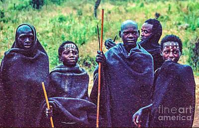 Digital Art - Maasai Initiates by Liz Leyden