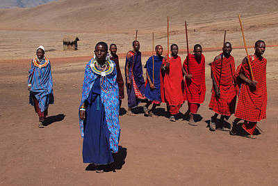 Maasai People Art Print