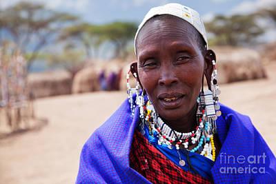 Adult Photograph - Maasai Woman Portrait In Tanzania by Michal Bednarek