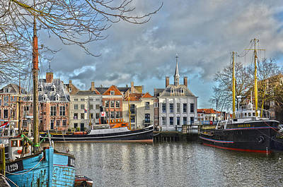 Maassluis Harbour Art Print by Frans Blok
