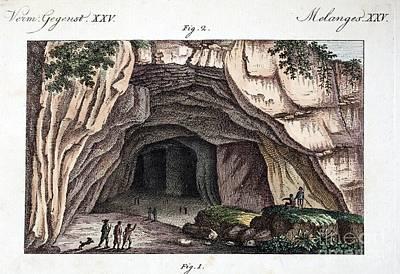Maastricht Photograph - Maastricht Mosasaur Cave Entrance, 1798 by Paul D. Stewart