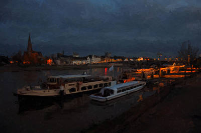 Meuse Painting - Maastricht Nine Days Before Christmas by Nop Briex