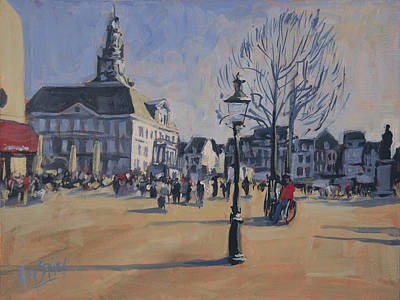 Square Painting - Maastricht On The Last Day Of 2014 by Nop Briex