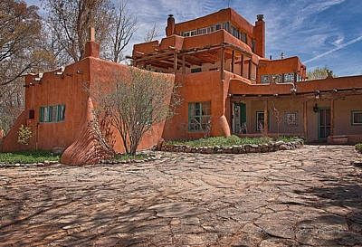 Photograph - Mabel Dodge Luhan House  by Charles Muhle