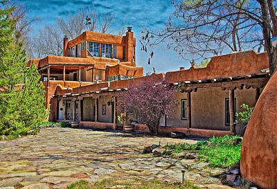 Mabel Dodge Luhan's Courtyard Art Print by Charles Muhle