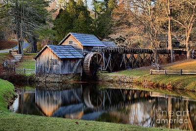 Photograph - Mabry Grist Mill Evening Light by Adam Jewell