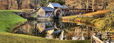 Photograph - Mabry Grist Mill Panorama by Adam Jewell