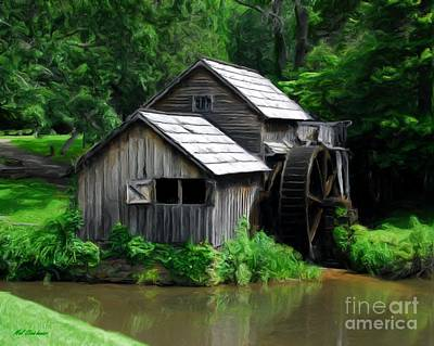 Grist Mill Photograph - Mabry Mill 4 by Mel Steinhauer