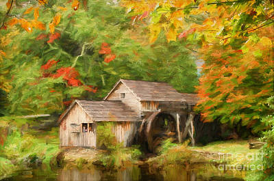 Mabry Mill Photograph - Mabry Mill Autumn by Darren Fisher