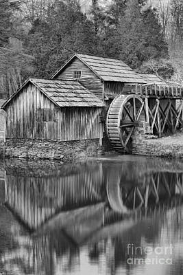 Photograph - Mabry Mill Black And White Portrait by Adam Jewell