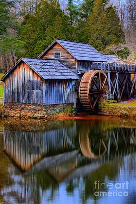 Photograph - Mabry Mill Evening Reflections by Adam Jewell
