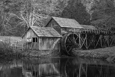 Photograph - Mabry Mill In Black And White by Amber Kresge