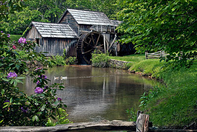 Photograph - Mabry Mill In May by John Haldane