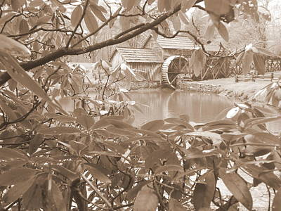 Photograph - Mabry Mill In Sepia by Diannah Lynch