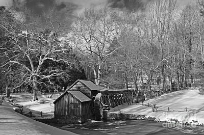 Photograph - Mabry Mill In Snow by Randy Rogers