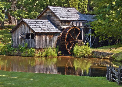 Parkway Digital Art - Mabry Mill In Summer by Patrick M Lynch