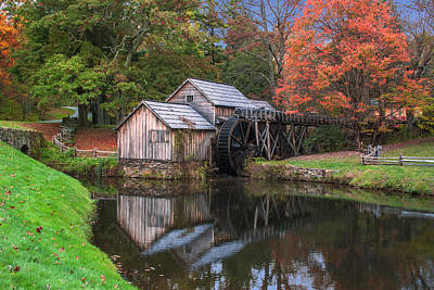 Photograph - Mabry Mill In The Autumn by Mary Almond