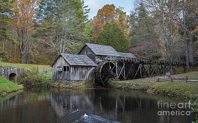 Photograph - Mabry Mill In The Fall by Amber Kresge