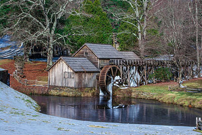 Photograph - Mabry Mill In Winter by Mary Almond
