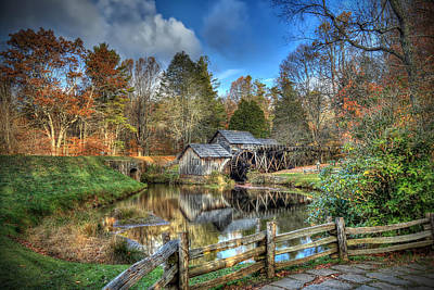 Mabry Mill Art Print by Jaki Miller