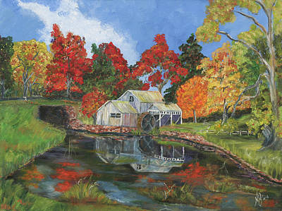 Mabry Mill Painting - Mabry Mill by Nancy Herren-Jernigan