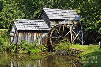 Photograph - Mabry Mill Off The Parkway by Jill Lang