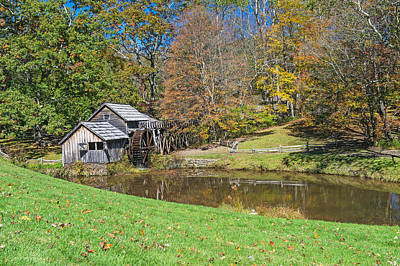 Photograph - Mabry Mill On The Blue Ridge Parkway In Autumn by Willie Harper