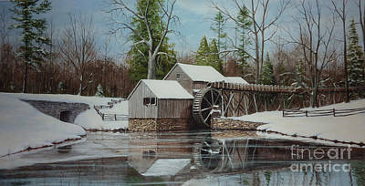 Old Mill Scenes Painting - Mabry Mill by Phil Christman