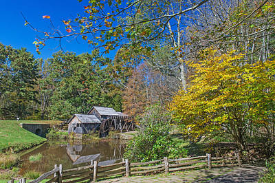 Photograph - Mabry Mill Reflection   Blue Ridge Parkway by Willie Harper