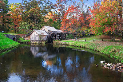 Photograph - Mabry Mill Reflections by Mary Almond