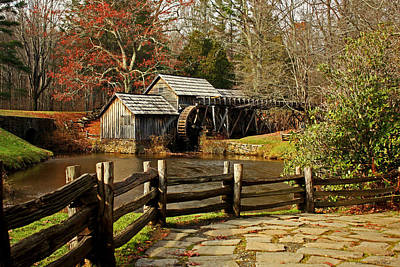 Art Print featuring the photograph Mabry Mill by Suzanne Stout