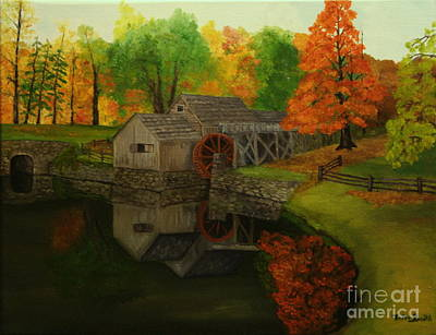 Mabry Mill Art Print by Timothy Smith