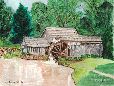 Mabry Mill Painting - Mabry Mill  Virginia by Carol Komassa