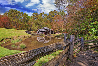 Grist Mill Photograph - Mabry Mill Virginia by Marcia Colelli