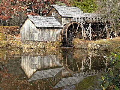 Photograph - Mabry Mill Waterwheel Reflection by Diannah Lynch